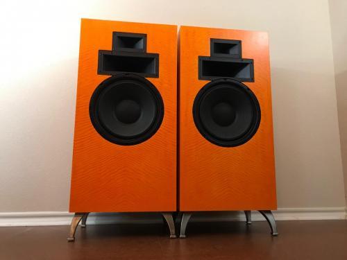 Klipsch Custom Forte Decorators Orange Dyed Tiger Maple FOR SALE